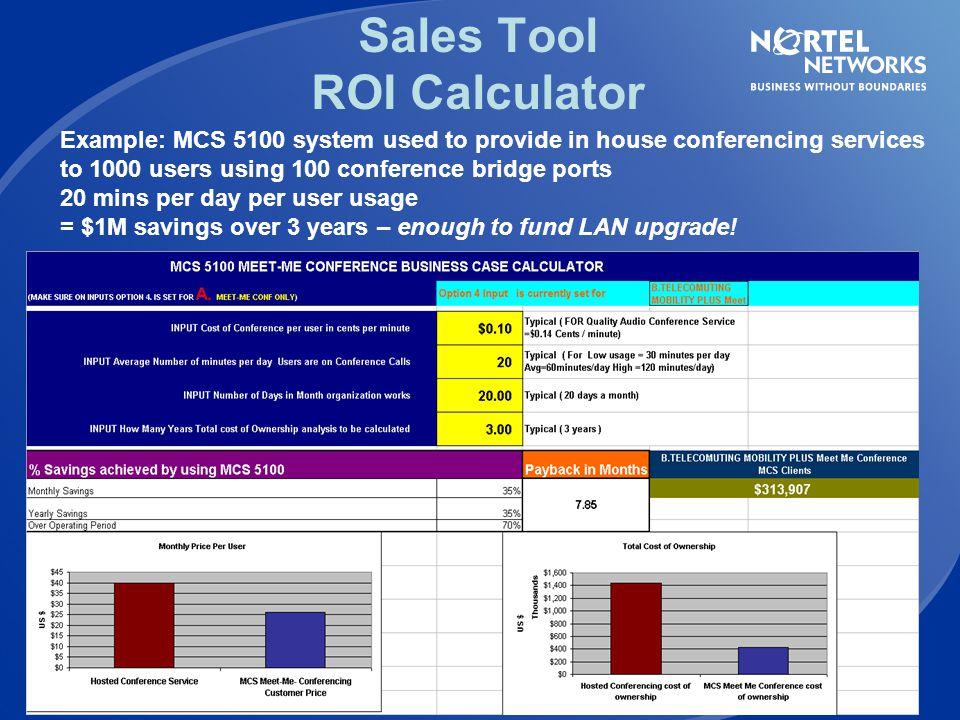 Sales Tool ROI Calculator
