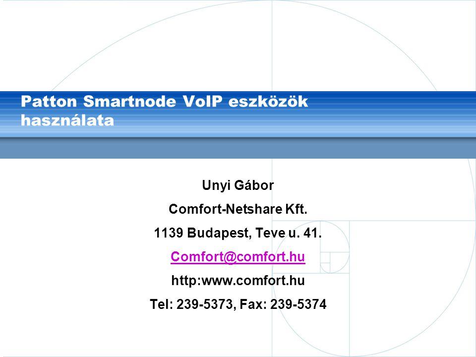 Patton Smartnode VoIP eszközök használata