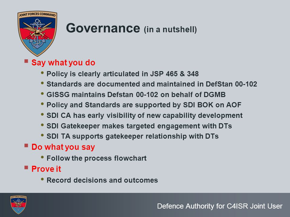 Governance (in a nutshell)