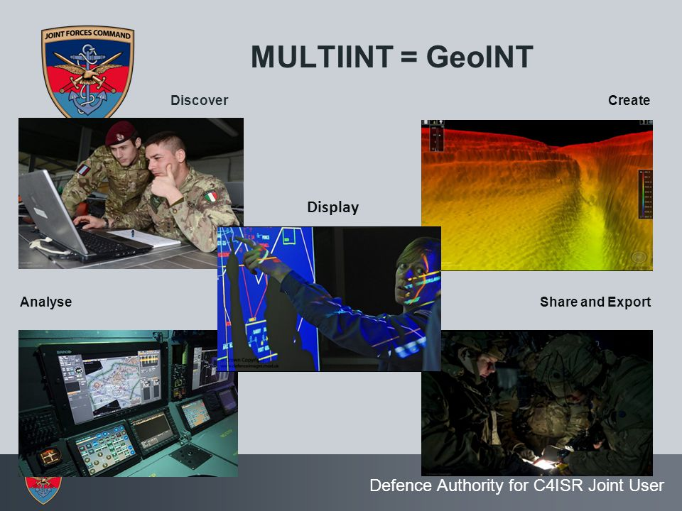 MULTIINT = GeoINT Display Discover Create Analyse Share and Export