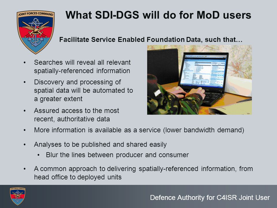 What SDI-DGS will do for MoD users