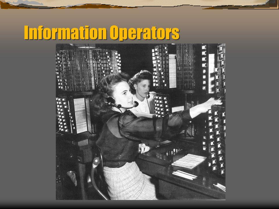 Information Operators