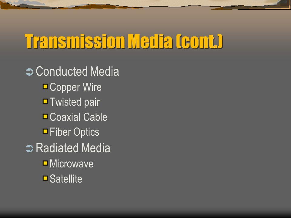 Transmission Media (cont.)