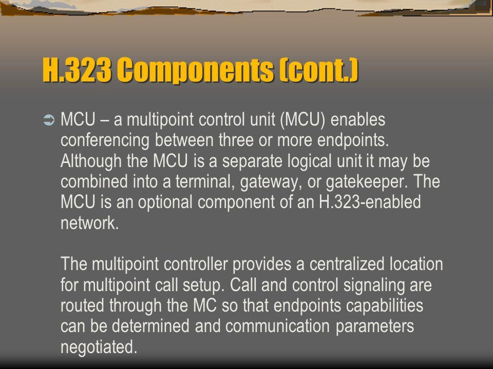 H.323 Components (cont.)