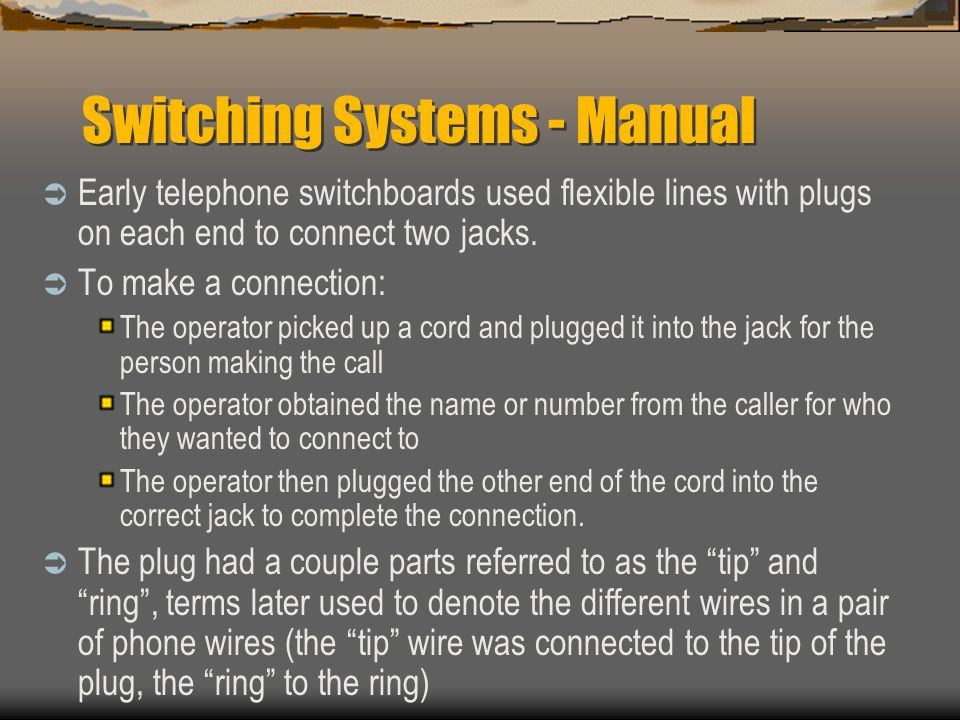 Switching Systems - Manual