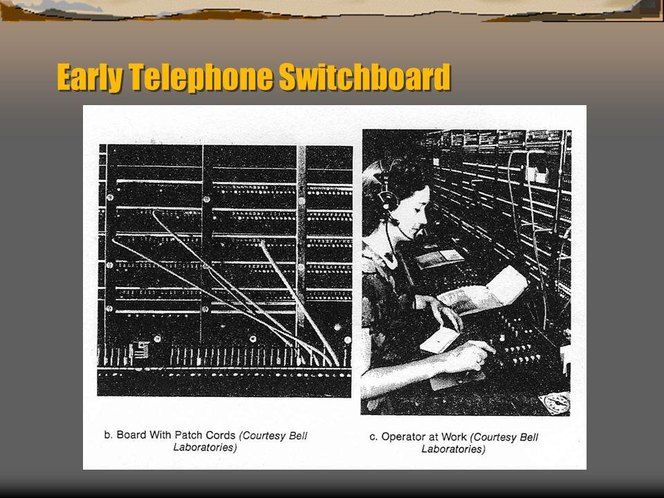Early Telephone Switchboard