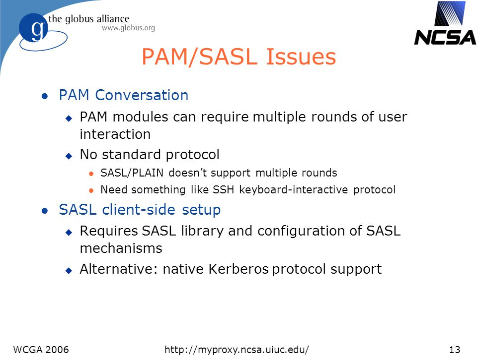 PAM/SASL Issues PAM Conversation SASL client-side setup