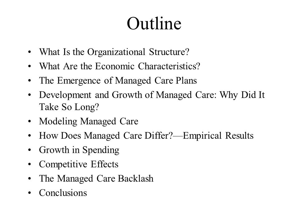 Outline What Is the Organizational Structure