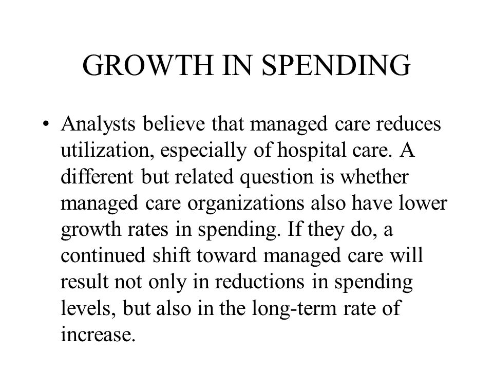 GROWTH IN SPENDING