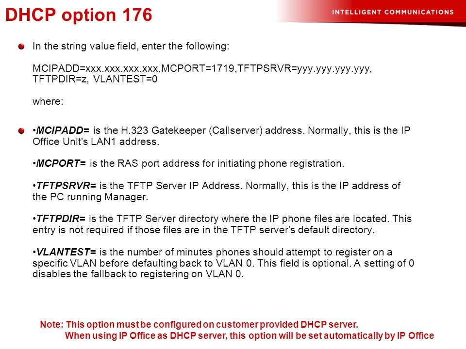 DHCP option 176