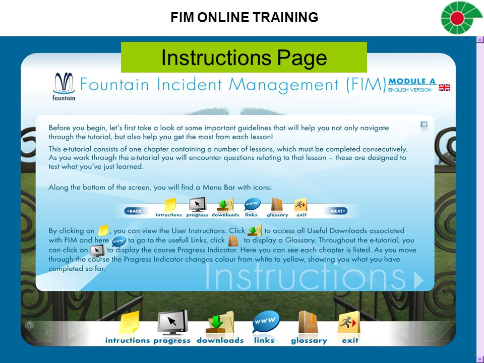 Instructions Page