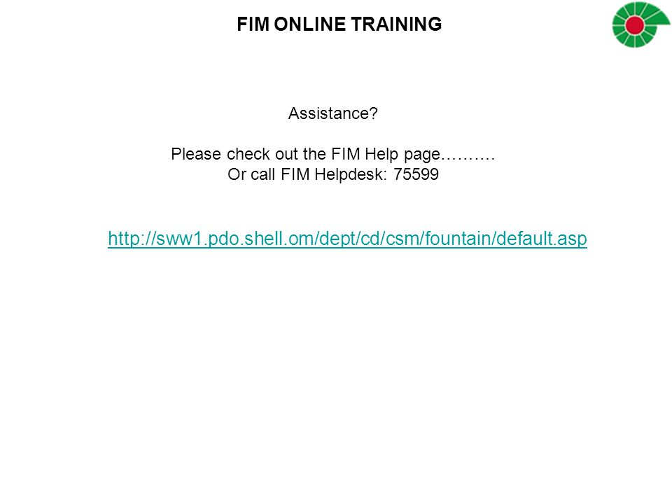Please check out the FIM Help page……….