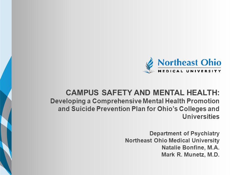 NEOMED TEMPLATE CampuS SAFETY AND MENTAL HEALTH: