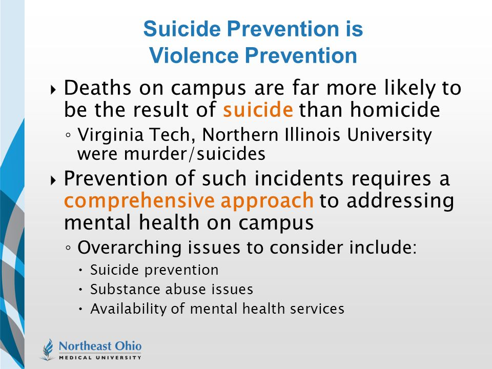 Suicide Prevention is Violence Prevention