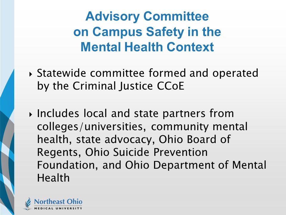 Advisory Committee on Campus Safety in the Mental Health Context
