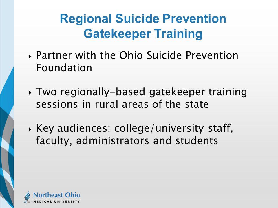 Regional Suicide Prevention Gatekeeper Training