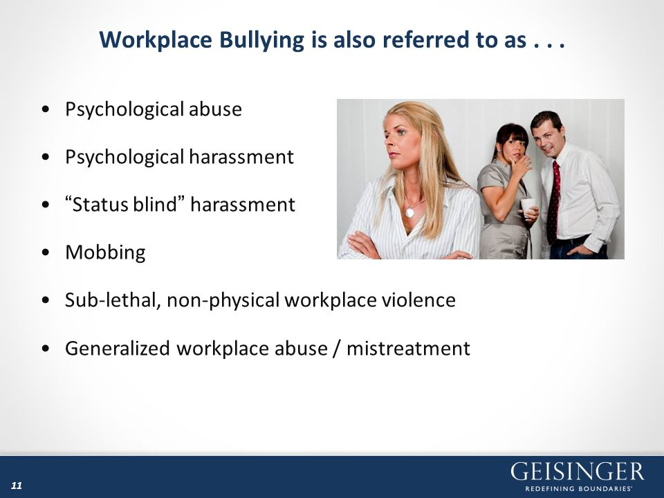 Workplace Bullying is also referred to as . . .