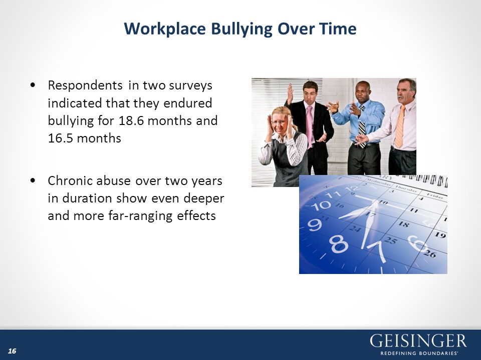 Workplace Bullying Over Time