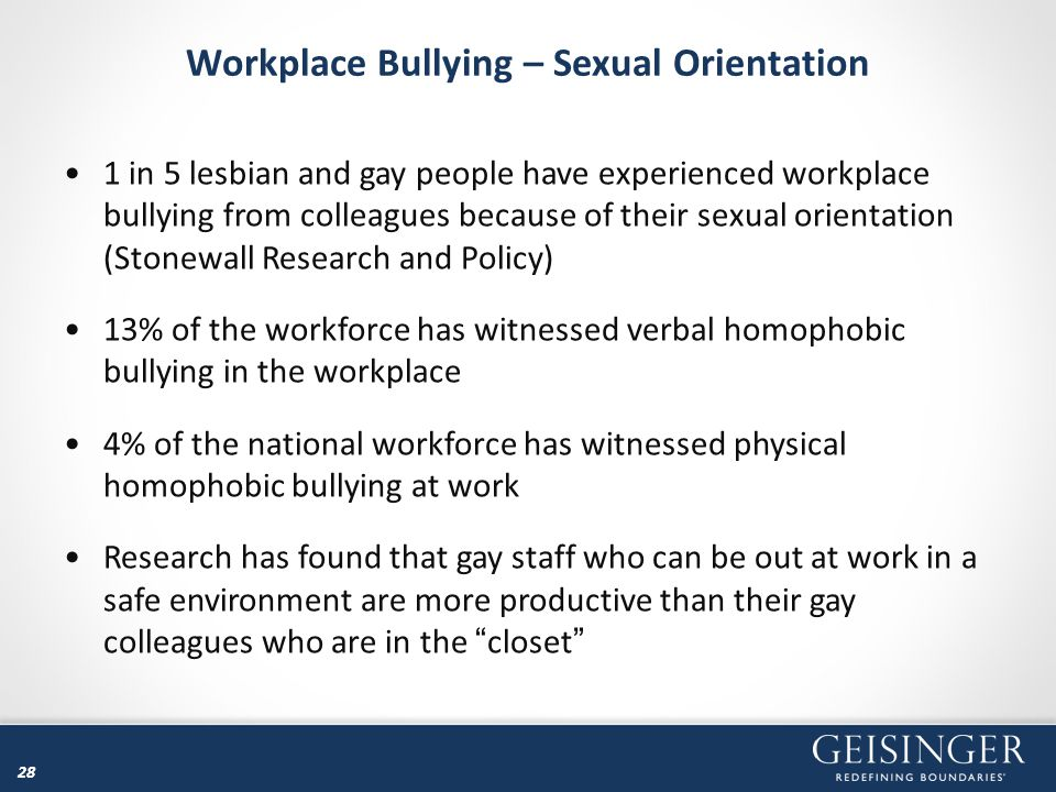 Workplace Bullying – Sexual Orientation