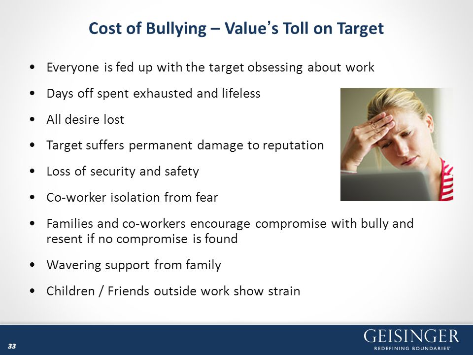 Cost of Bullying – Value's Toll on Target