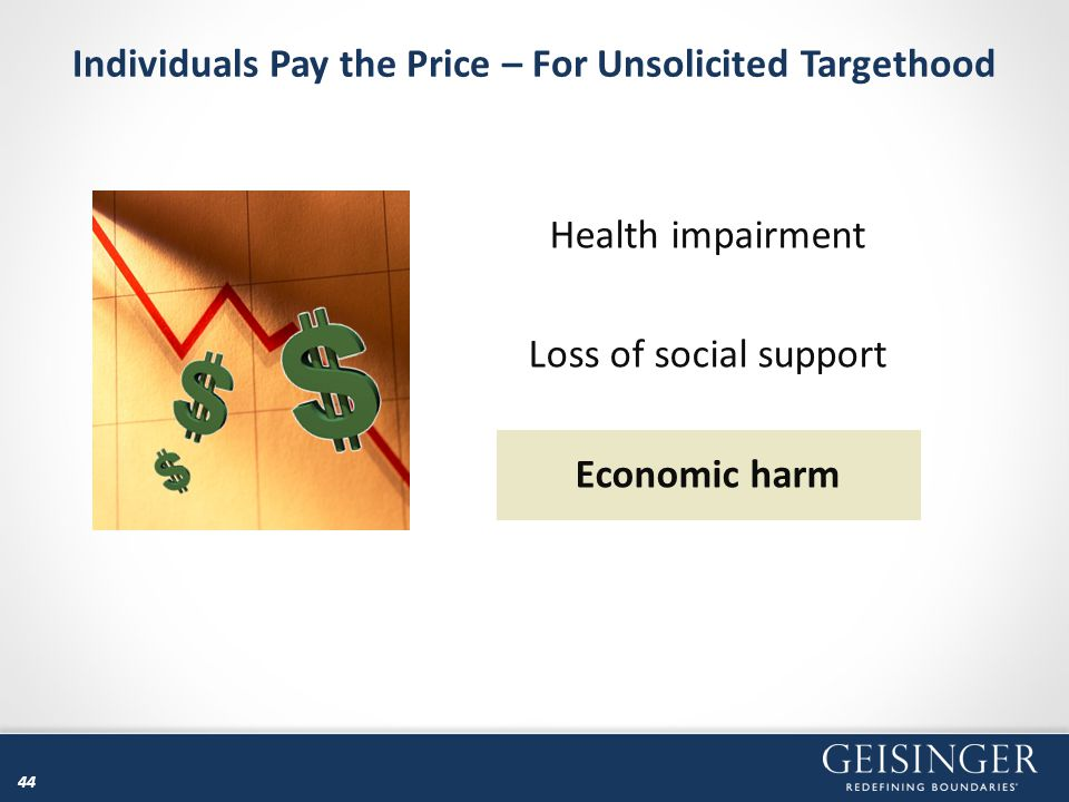 Individuals Pay the Price – For Unsolicited Targethood