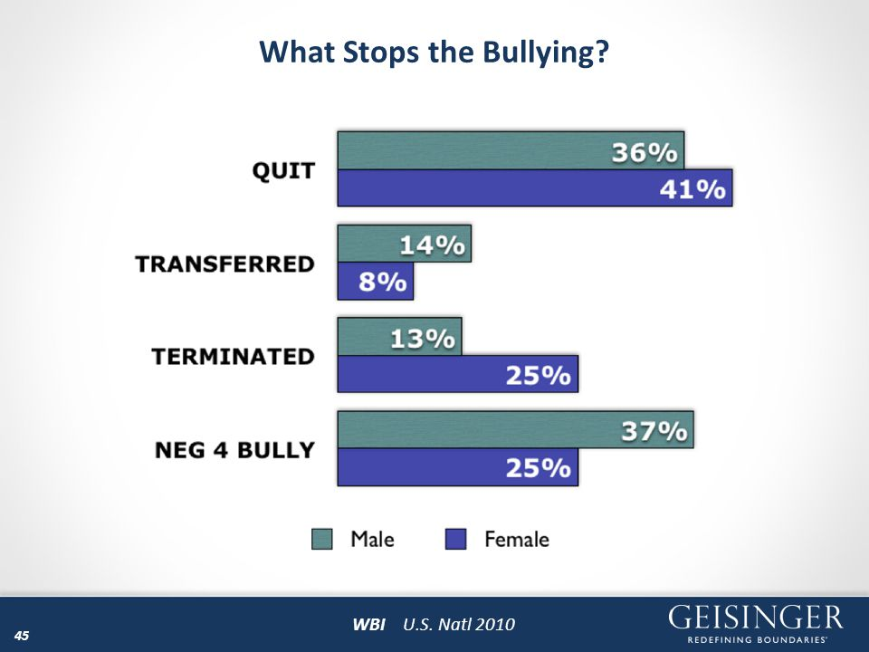 What Stops the Bullying