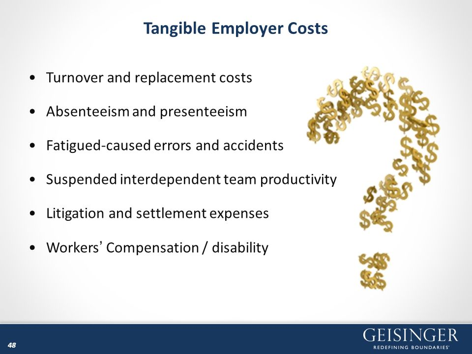 Tangible Employer Costs
