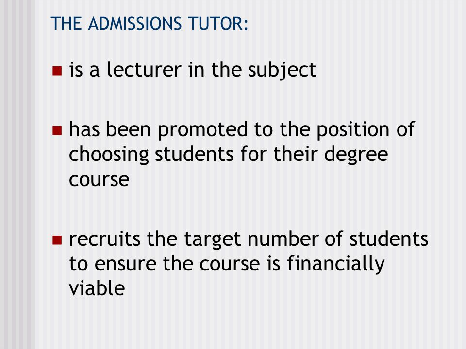 is a lecturer in the subject