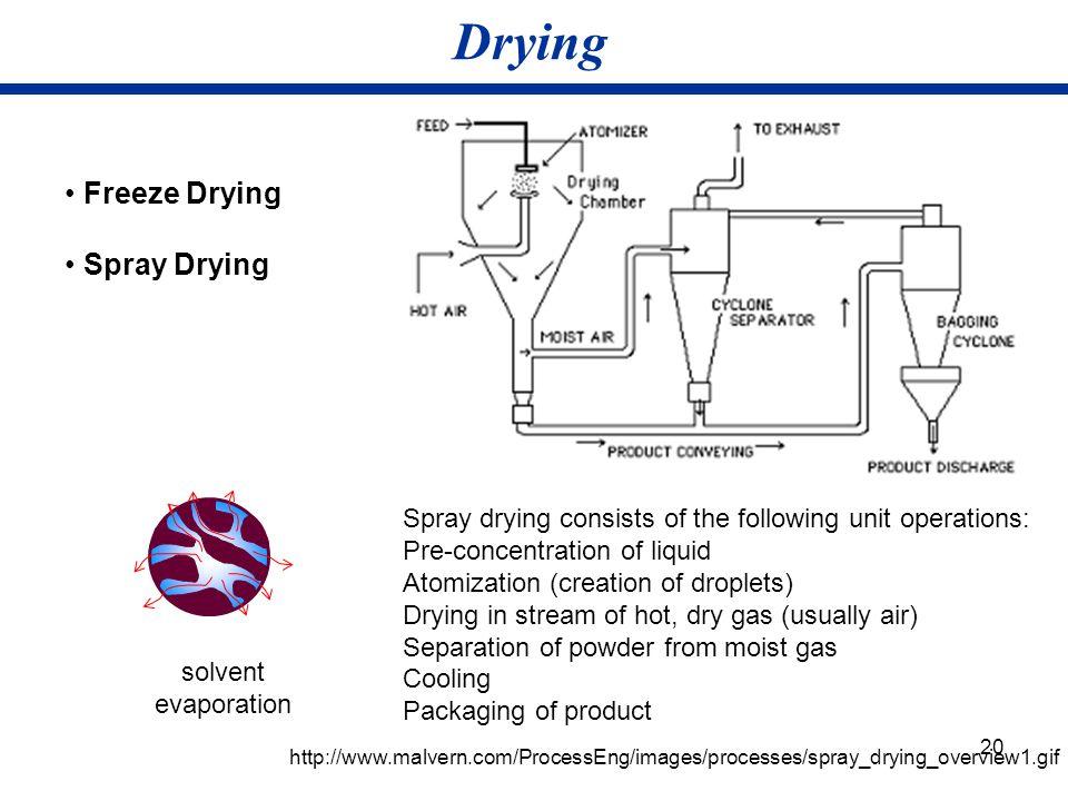 Drying • Freeze Drying • Spray Drying