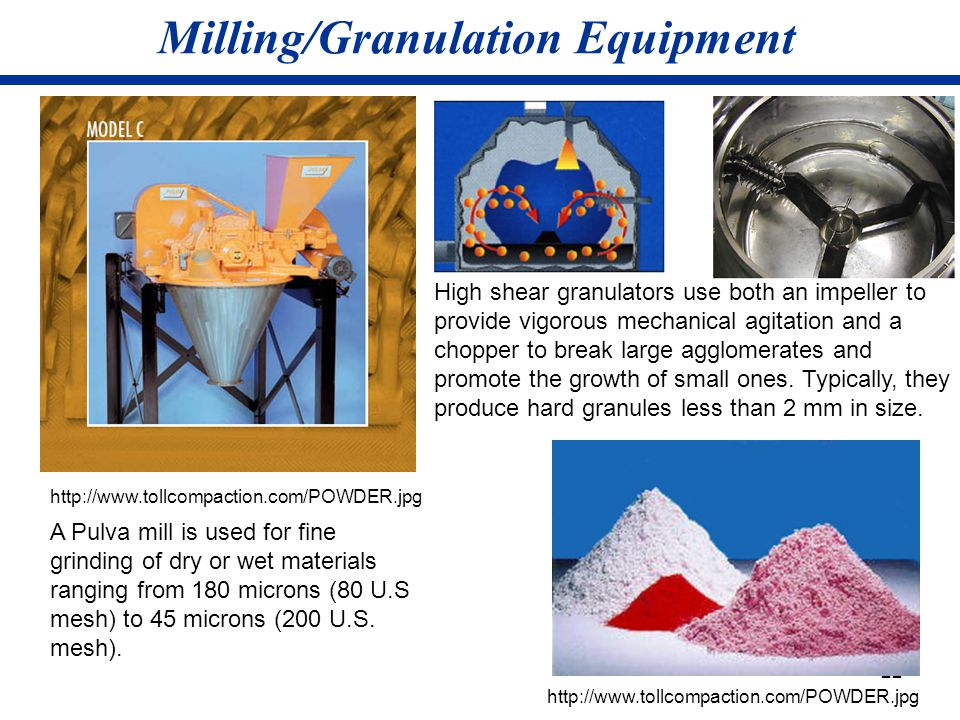 Milling/Granulation Equipment