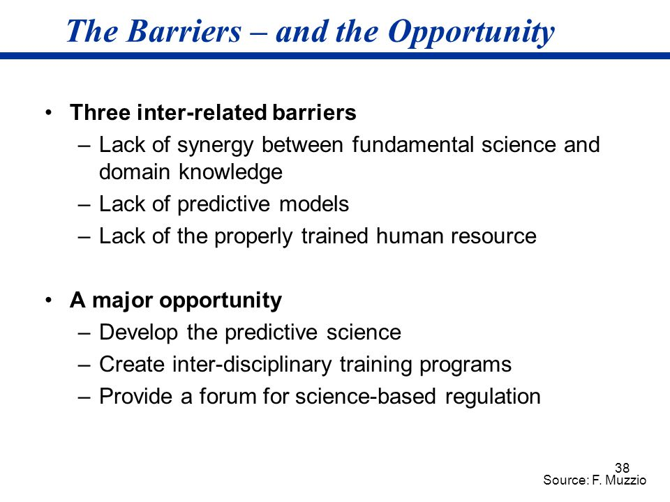 The Barriers – and the Opportunity