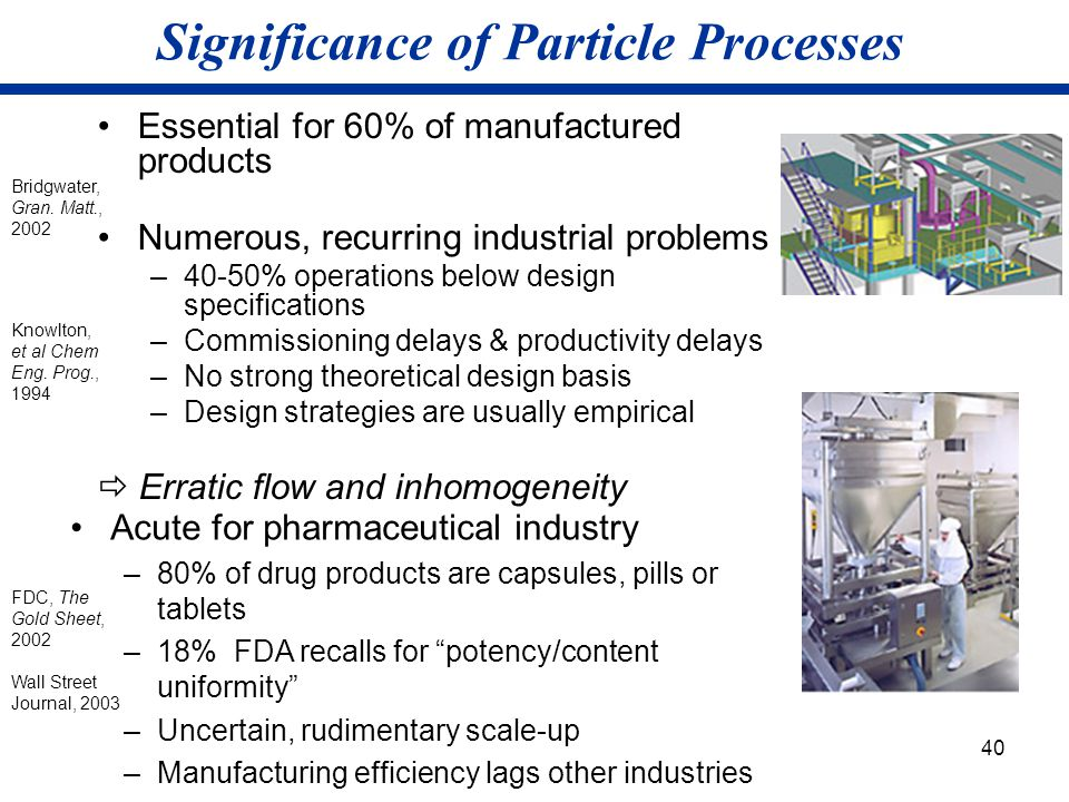 Significance of Particle Processes