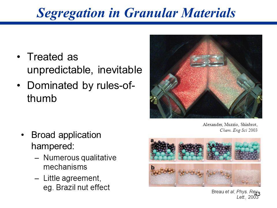 Segregation in Granular Materials