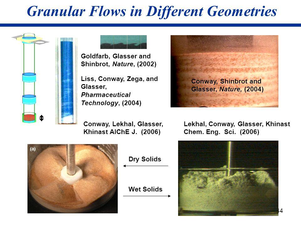 Granular Flows in Different Geometries