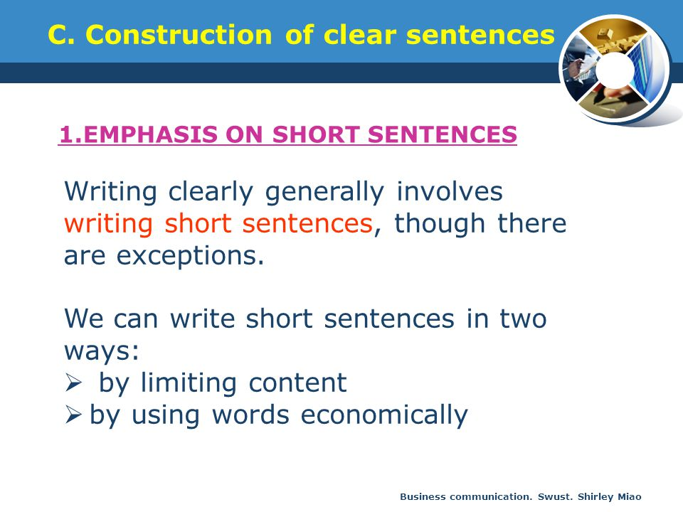 C. Construction of clear sentences