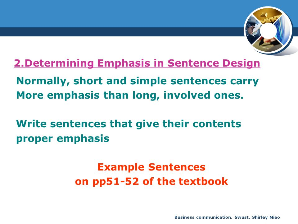 2.Determining Emphasis in Sentence Design