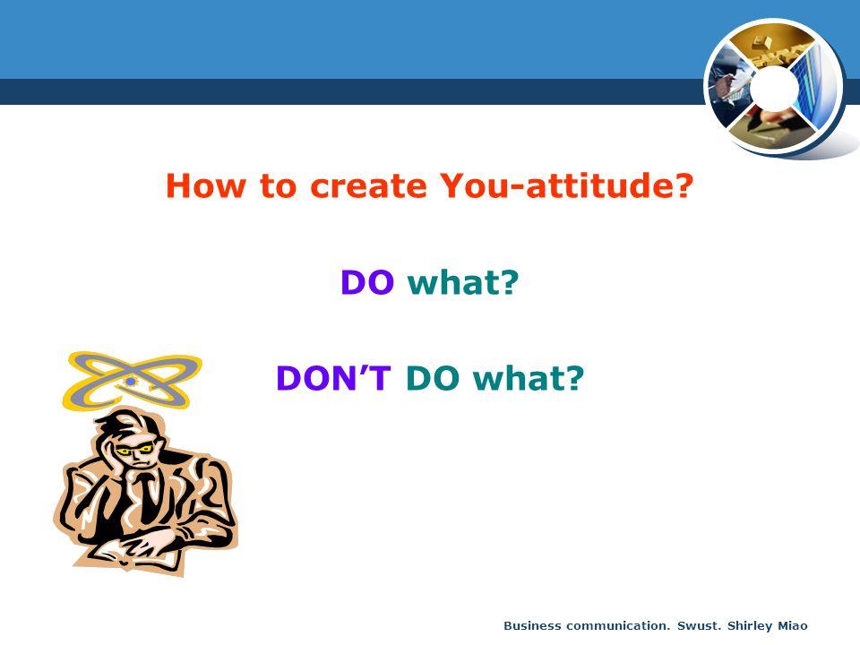 How to create You-attitude