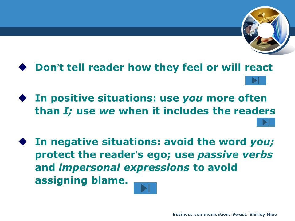 Don't tell reader how they feel or will react