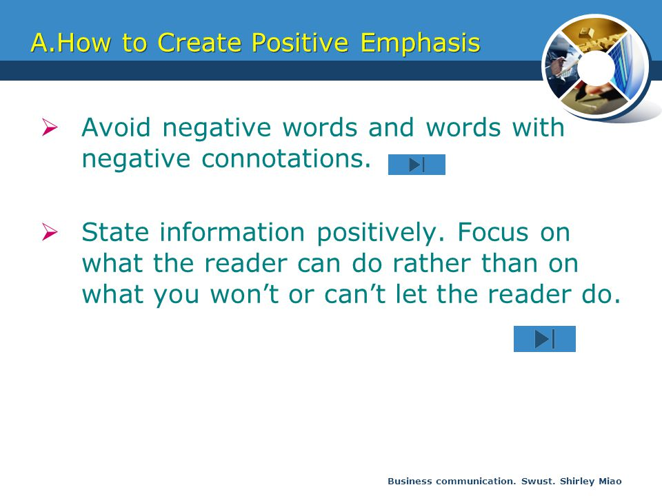 A.How to Create Positive Emphasis