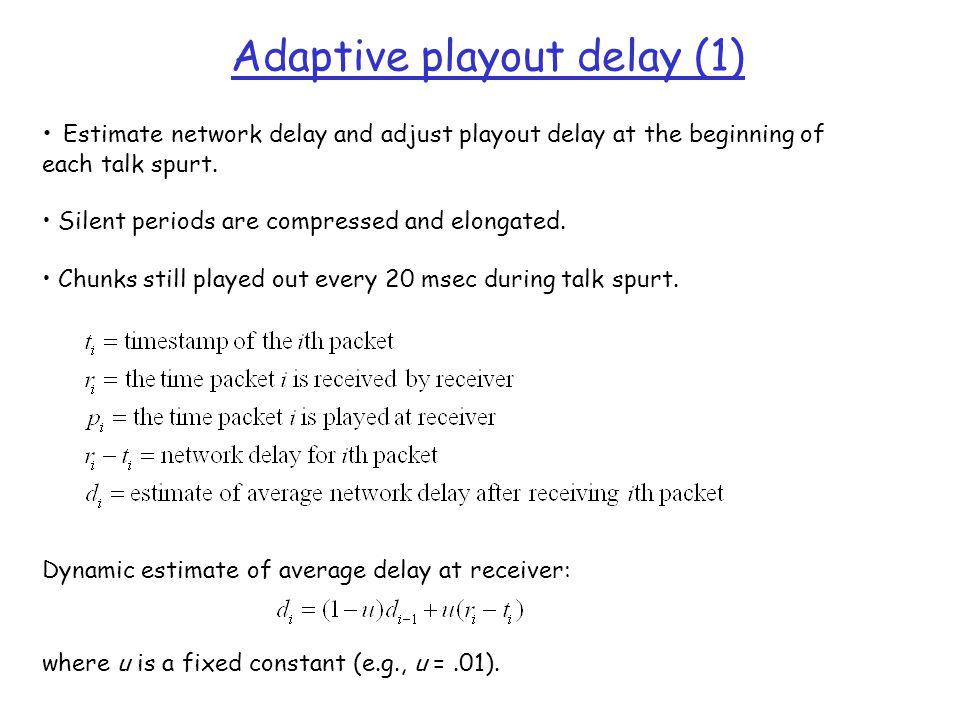 Adaptive playout delay (1)