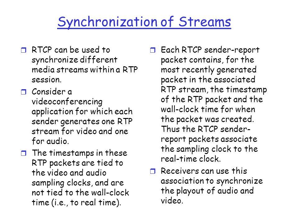 Synchronization of Streams