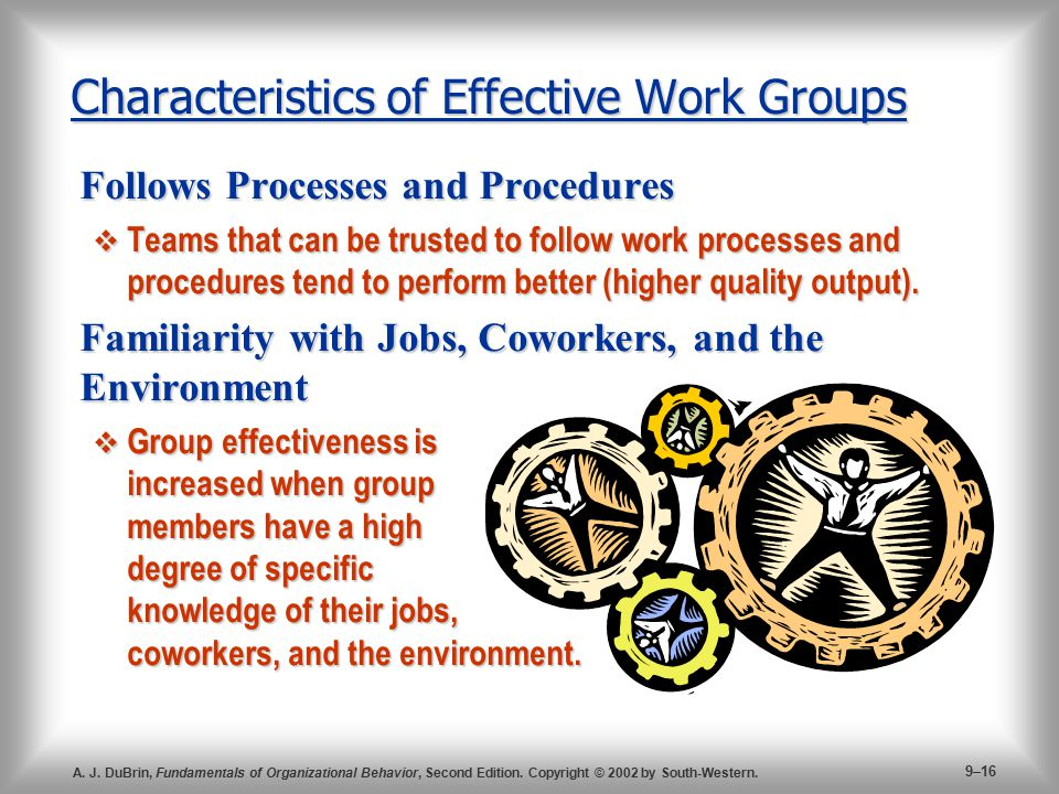 Characteristics of Effective Work Groups
