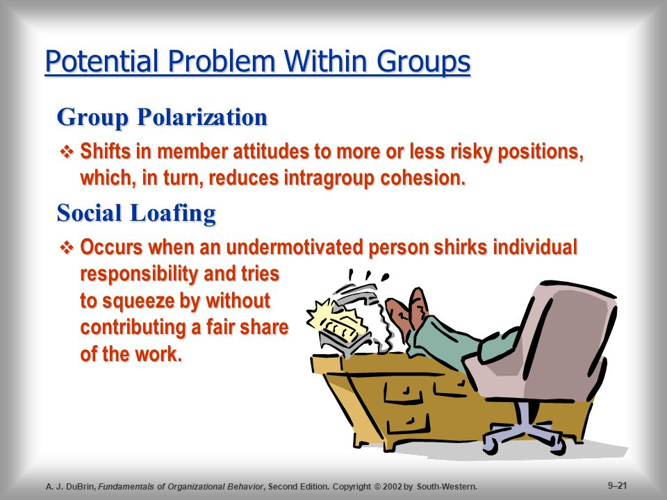 Potential Problem Within Groups