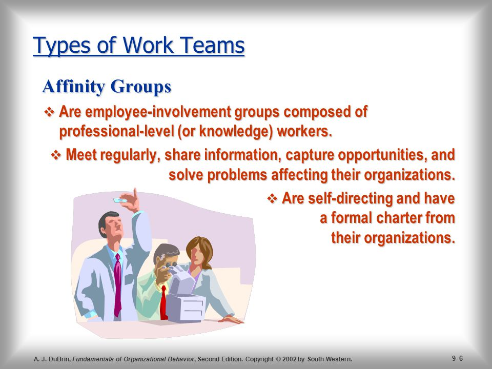 Types of Work Teams Affinity Groups