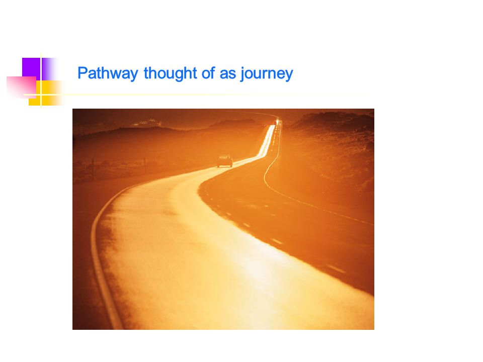 Pathway thought of as journey