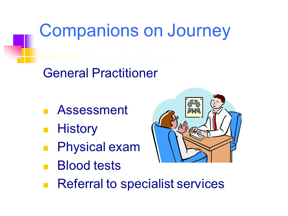 Companions on Journey General Practitioner Assessment History