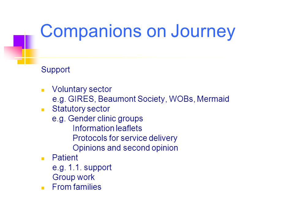 Companions on Journey Support Voluntary sector