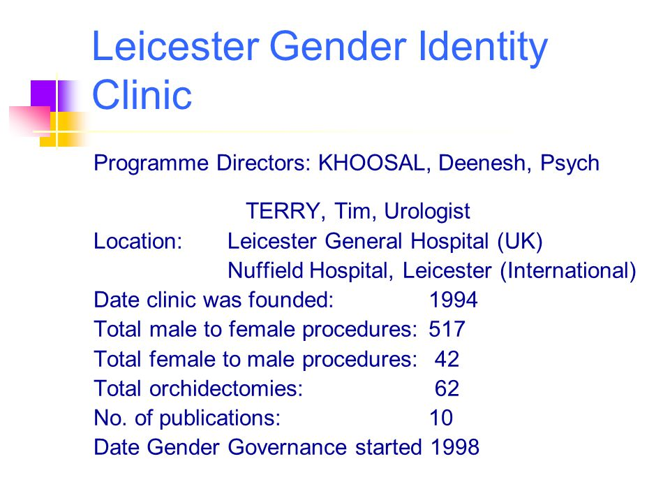 Leicester Gender Identity Clinic