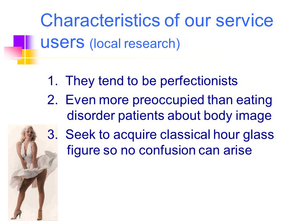Characteristics of our service users (local research)