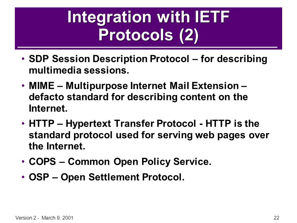 Integration with IETF Protocols (2)